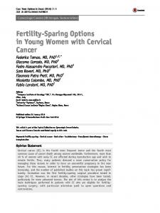 Fertility-Sparing Options in Young Women with Cervical Cancer