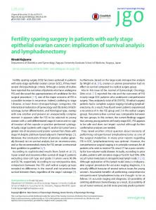 Fertility sparing surgery in patients with early stage ... - Semantic Scholar