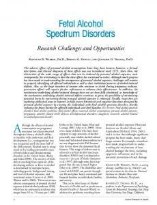 Fetal Alcohol Spectrum Disorders - National Institute on Alcohol Abuse ...