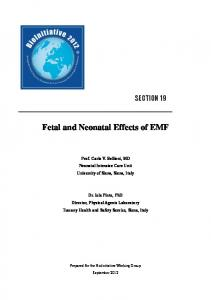 Fetal and Neonatal Effects of EMF - CiteSeerX
