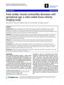 Fetal cardiac muscle contractility decreases with ... - Springer Link