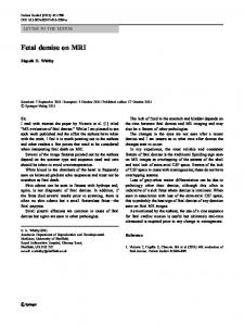Fetal demise on MRI - Springer Link