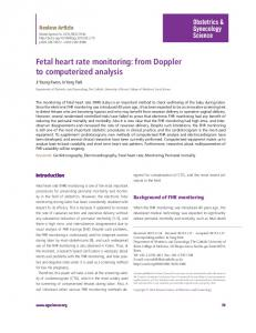 Fetal heart rate monitoring - Nutrition Research and Practice