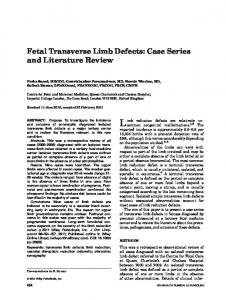 Fetal transverse limb defects - Wiley Online Library