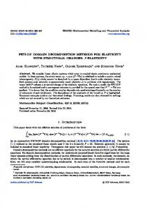 FETI-DP domain decomposition methods for elasticity with structural ...