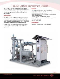 FGCS Fuel Gas Conditioning System FGCS Fuel Gas Conditioning ...
