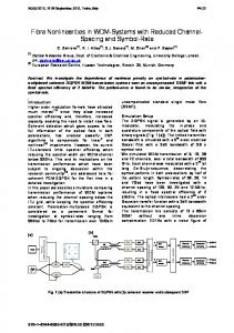 Fibre Nonlinearities in WDM-Systems with Reduced ... - IEEE Xplore