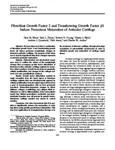 Fibroblast growth factor 2 and transforming ... - Wiley Online Library
