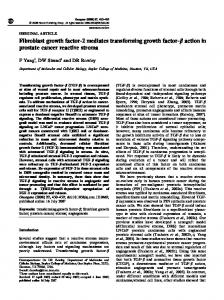Fibroblast growth factor-2 mediates transforming growth factor ... - Nature
