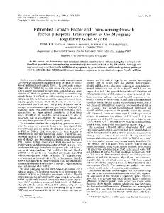 Fibroblast Growth Factor and Transforming Growth ... - Europe PMC