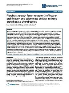 Fibroblast growth factor receptor 3 effects on proliferation and ...
