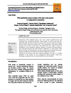 Fibroepithelial polyp excision with laser and scalpel: A comparative ...