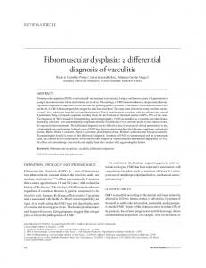 Fibromuscular dysplasia: a differential diagnosis of vasculitis - SciELO