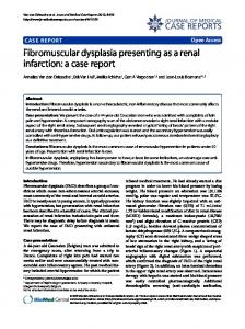 Fibromuscular dysplasia presenting as a renal