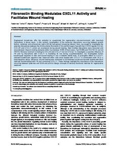 Fibronectin Binding Modulates CXCL11 Activity and ... - ScienceOpen