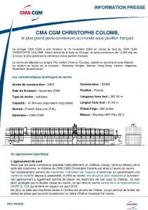 fiche technique CMA CGM Christophe Colomb - Marine Marchande ...