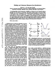Fidelity and Coherence Measures from Interference