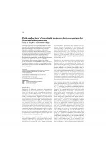 Field applications of genetically engineered microorganisms for