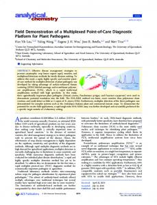 Field Demonstration of a Multiplexed Point-of-care ... - ACS Publications