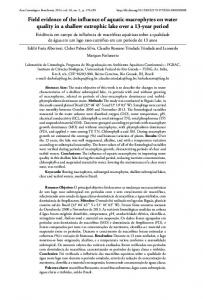 Field evidence of the influence of aquatic macrophytes on ... - SciELO