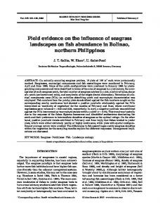 Field evidence on the influence of seagrass landscapes on fish ...