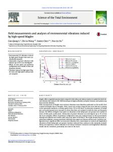 Field measurements and analyses of environmental ...