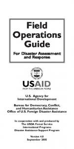 Field Operations Guide - Usaid