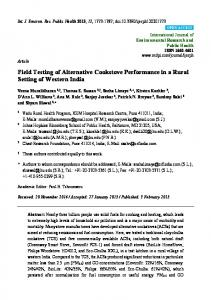 Field Testing of Alternative Cookstove Performance in a ... - CiteSeerX