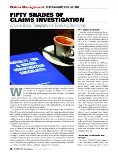 Fifty Shades of Claims Investigation - A New Book, Template for ...