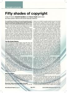 Fifty shades of copyright - Cozen O'Connor