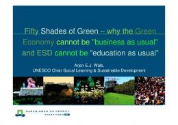 Fifty Shades of Green – why the Green Economy cannot be ...