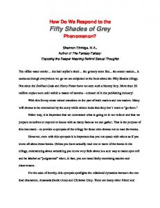 Fifty Shades of Grey - Shannon Ethridge Ministries