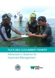 Fiji's Sea Cucumber Fishery: Advances in Science for ... - WCS Fiji