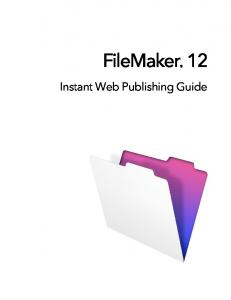 FileMaker Instant Web Publishing Guide