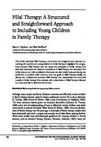 Filial Therapy - Wiley Online Library