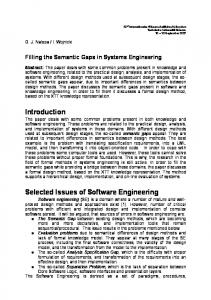 Filling the Semantic Gaps in Systems Engineering