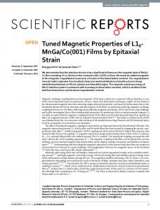 Films by Epitaxial Strain