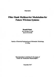Filter Bank Multicarrier Modulation for Future Wireless Systems