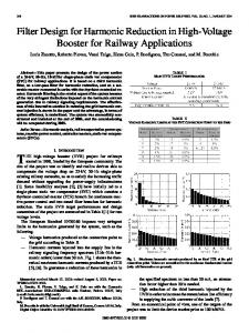 Filter Design for Harmonic Reduction in High-Voltage ... - IEEE Xplore