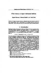 Filter theory on hyper residuated lattices 1 ... - Semantic Scholar