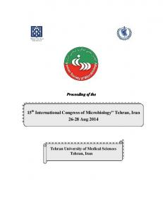Final IJPH supplementary Microbiology 93.7.14 - Iranian Journal of ...