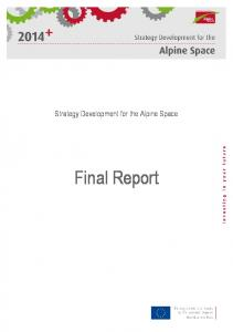 Final Report - Alpine Space Programme 2007-2013