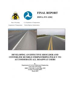 final report - National Transportation Library
