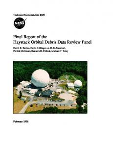 Final Report of the Haystack Orbital Debris Data Review ... - CiteSeerX