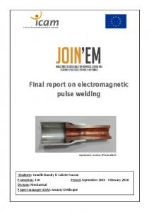 Final report on electromagnetic pulse welding