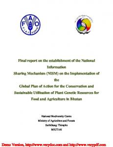 Final_NISM_report - National Biodiversity Centre, Bhutan