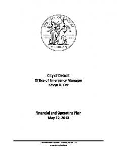 Financial and Operating Plan - City of Detroit