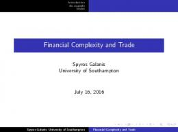 Financial Complexity and Trade