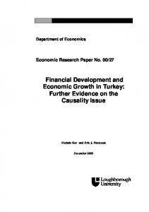 Financial Development and Economic Growth in