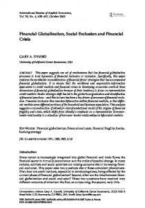 Financial Globalization, Social Exclusion and Financial Crisis